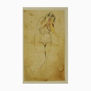 Impresión Offset de Naked Lady After Renato Guttuso - Finales del siglo XX