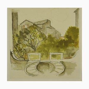 Cricket Palace, Offset von Renato Guttuso, spätes 20. Jahrhundert
