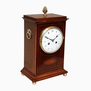 Mahogany Inlaid Mantel Clock