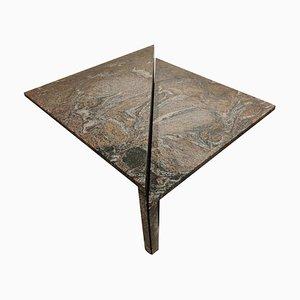 Mesas de centro triangulares de granito de Up & Up, años 70. Juego de 2