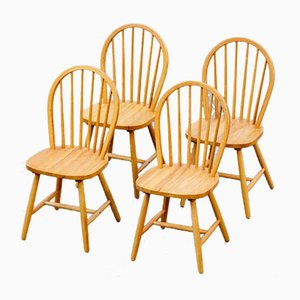 Scandinavian Chairs with Perforated Backs, Set of 4