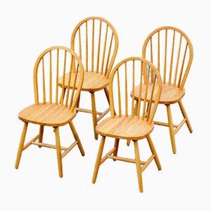 Skandinavische Stühle mit Perforierten Rückenlehnen, 4er Set