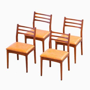 Skandinavische Vintage Stühle, 4er Set