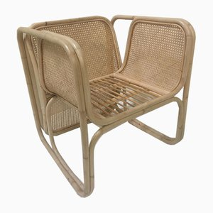 Chaise en Rotin et Jonc