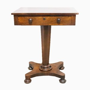 Victorian English Sellette / Side Table, Mid-19th Century