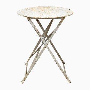 Tavolo da bistrò da esterno rotondo in metallo, Francia, anni '30