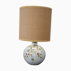 Vintage Italian Hand-Painted Ceramic Table Lamp, 1980s