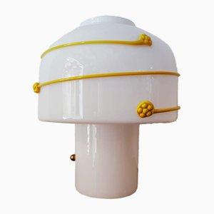 Lampe de Bureau Jaune en Verre Murano