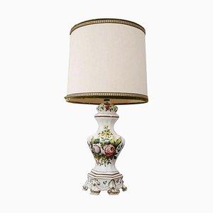 Lampe de Bureau Vintage en Céramique Peinte à la Main par Bassano, Italie, 1980s