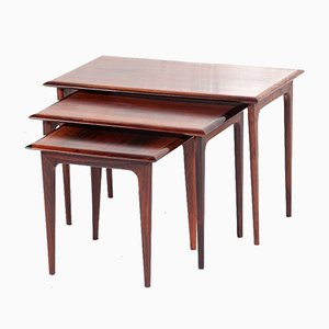 Mid-Century Danish Rosewood Nesting Table Set, 1960s