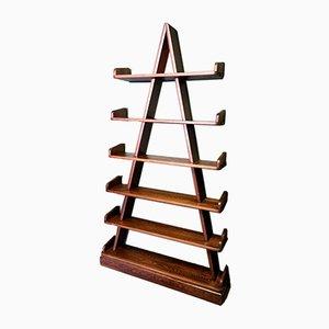 Vintage Oak Pyramid Etagère / Shelf