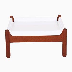 Danish Solid Teak & Plastic Table
