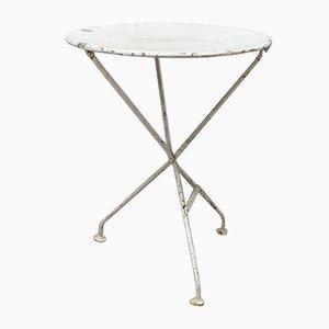 Round French Metal Folding Garden / Bistro Table, Circa 1960