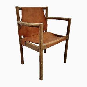 Sedia in pelle, anni '60