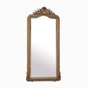 Vergoldeter Französischer Spiegel, 19. Jahrhundert