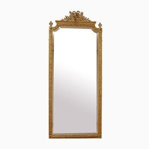 Grand Miroir en Bois Doré, 19ème Siècle