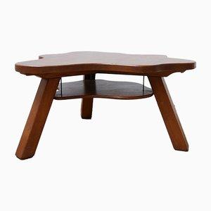 Mid-Century Dutch Freeform Wooden 2-Tier Coffee Table
