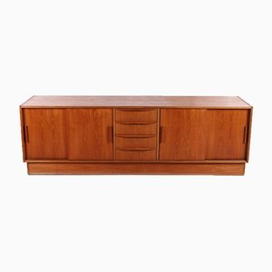 Large Danish Low Teak Sideboard, 1960s