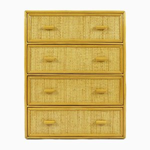 Dutch Bamboo & Rattan Chest of Drawers, 1970s