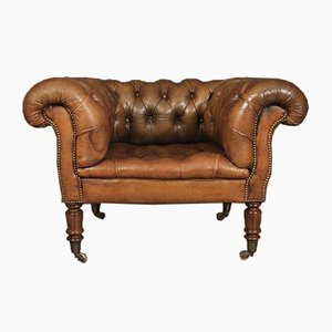 Victorian Leather Chesterfield / Club Chair