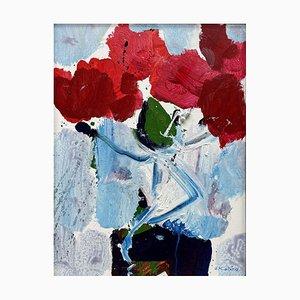 Oskar Koller, Original Gemälde, Coole Blütenfarben