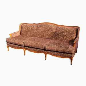 French Style Walnut 3-Seater Sofa, 1960s
