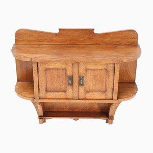 Arts & Crafts / Art Nouveau Oak Wall Cabinet, 1900s