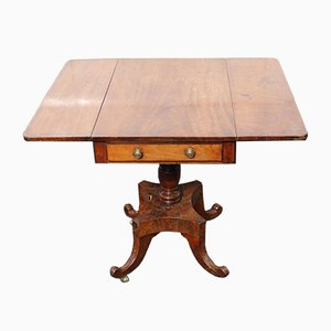 Regency Mahogany Drop Leaf Table with Center Column