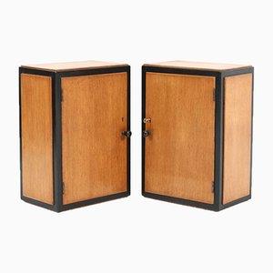 Art Deco Hague School Oak Wall Cabinets, 1920, Set of 2