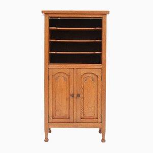 Art Nouveau Arts & Crafts Oak Office Cabinet, 1900s