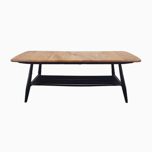 Coffee Table on Black Legs by Lucian Ercolani for Ercol, 1970s