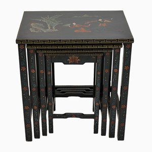 Tables Gigognes Antiques, Chine, Set de 4