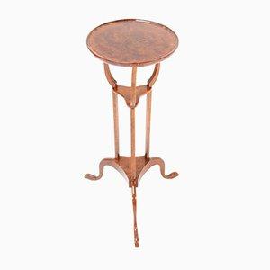 English Burl & Walnut Tripod Table, 19th Century