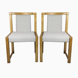 Beige Dining Chairs, 1970s, Set of 2