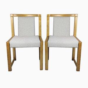 Beige Esszimmerstühle, 1970er, 2er Set