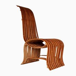 Chaise en Bambou Courbé, 1970s