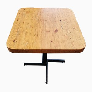 Quadratischer ausziehbarer Les Arcs Tisch von Charlotte Perriand, 1969