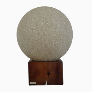 Swedish Table Lamp with Crushed Ice Globe from Biab, 1960s