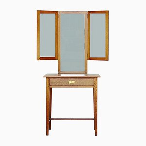 Vintage Arts & Crafts Dressing Table / Mirror Console by Jac van den Bosch for 't Binnenhuis