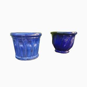 Macetas de cerámica. Juego de 2