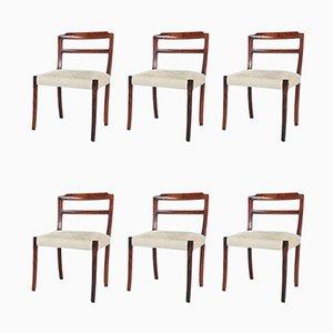 Palisander Esszimmerstühle von Ole Wanscher für AJ Iversen, 1960er, 6er Set