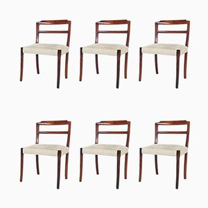 Rosewood Dining Chairs by Ole Wanscher for A.J. Iversen, 1960s, Set of 6