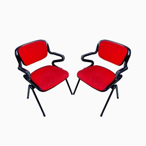 Italian Vertebra System Chairs by Emilio Ambasz and Giancarlo Piretti for OpenArk / Anonima Castelli, 1970s, Set of 2