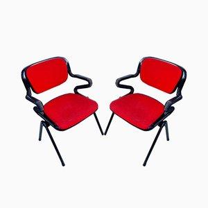 Italienische Vertebra System Stühle von Emilio Ambasz und Giancarlo Piretti für OpenArk / Anonima Castelli, 1970er, 2er Set