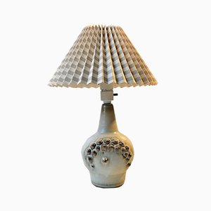 Ceramic Table Lamp with Spikes by Einar Johansen for Søholm, 1960s