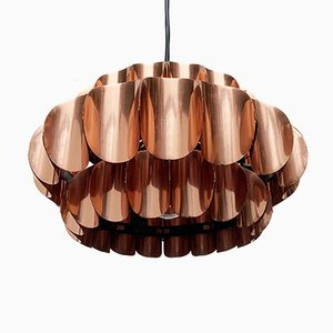 Mid-Century Swiss Copper Type 810 Pendant Lamp by H. Zender for Temde