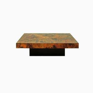Grande Table Basse en Cuivre Gravé & Fire-Oxidized par Bernhard Rohne, Allemagne, 1966