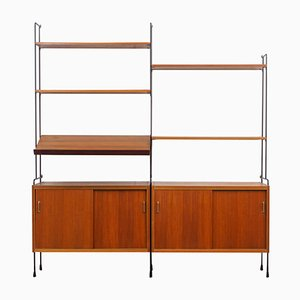 Large Omnia Teak Shelving Unit from Hilker, 1960s