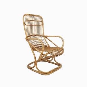 Italian Bamboo Lounge Chair by Tito Agnoli, 1960s