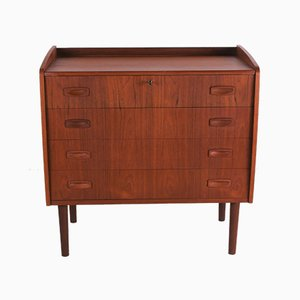 Vintage Danish Chest of Drawers with Mirror by Egon Ostergaard